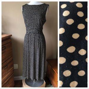 Dresses & Skirts - Black/Tan Polka Dot Dress